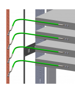 Equipment bonded to busbar with Unit Bonding Conductor Kit