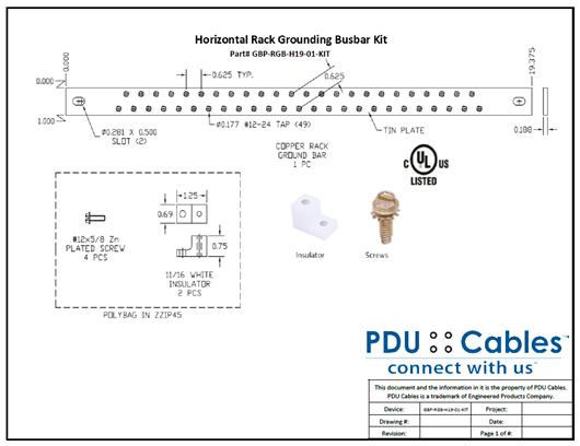 Horizontal Busbar Specifications