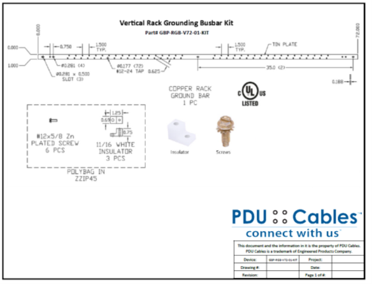 Vertical Ground Bonding Busbar