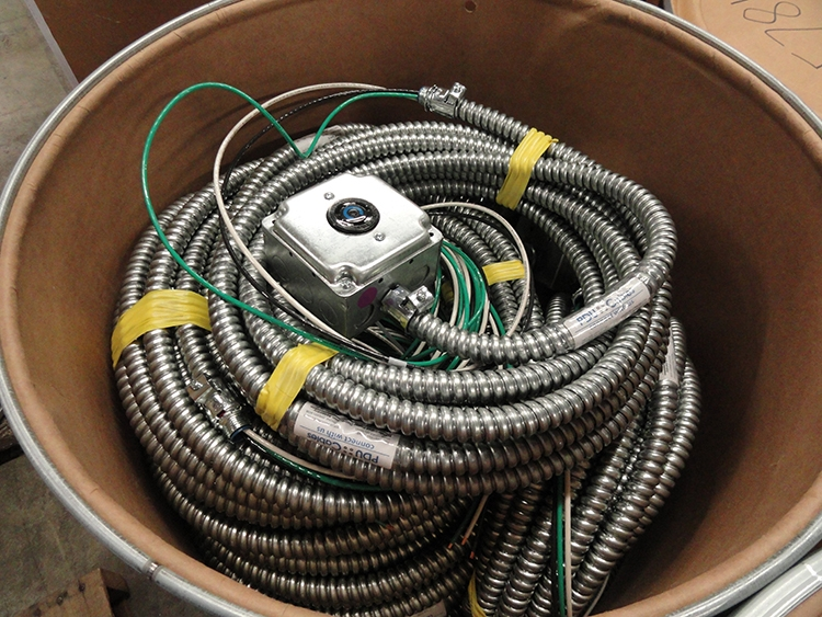 Flexible Metal Conduit Cable Assemblies in a Fiber Barrel