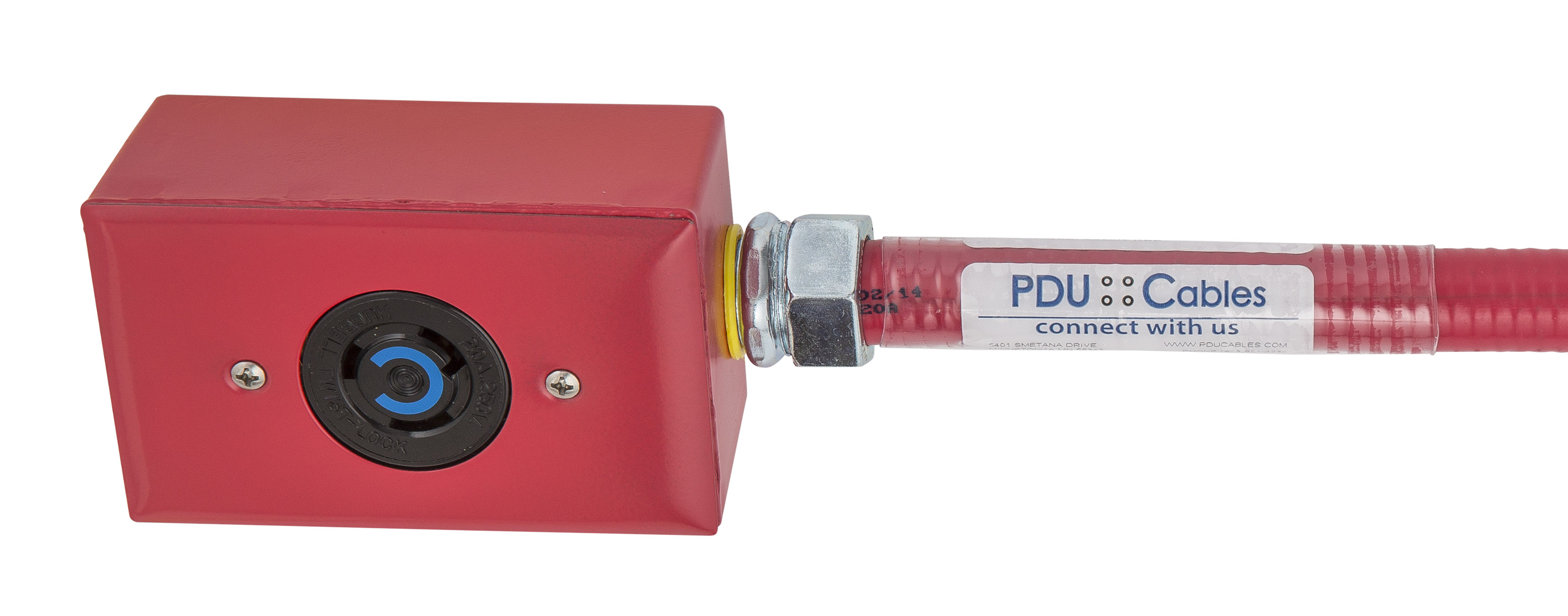 NEMA Standard Locking cable plug and receptacle for data center under floor power cable assemblies.