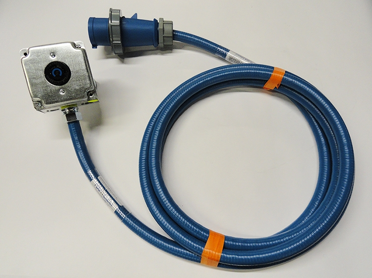 Type LFMC - Blue Conduit with Dual Devices IEC309 and NEMA locking