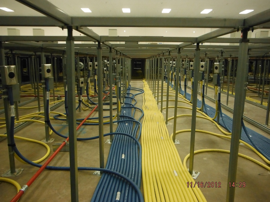 Benefits Of Colored Conduit In Data Center Power Cables Pdu 11 Pulling Wire Through Flexible Electrical Under Raised Floor