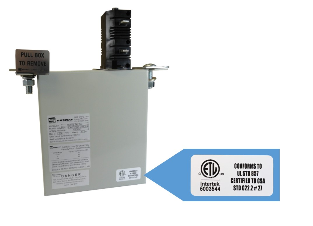 Busway Solutions Tap-Off Box ETL Certified