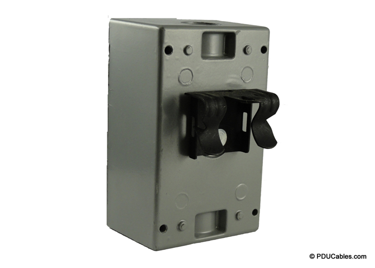 B-Line flange beam clamp attached to a red dot box