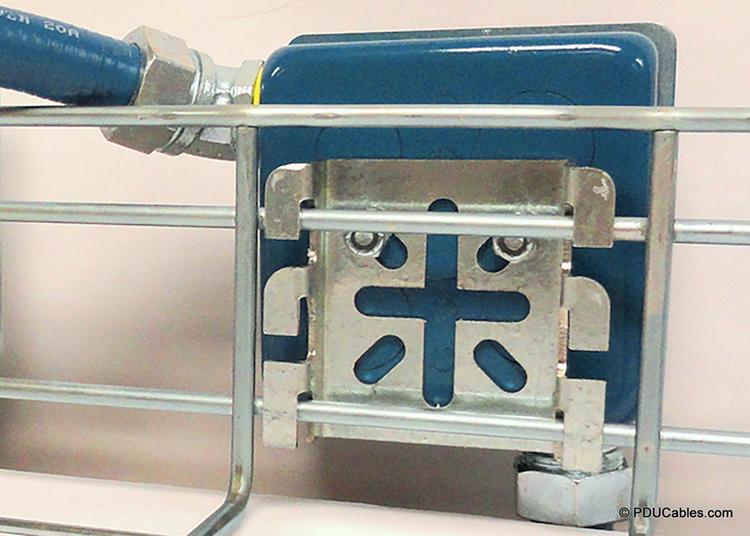 C50 bracket on 1900 style box mounted to basket tray
