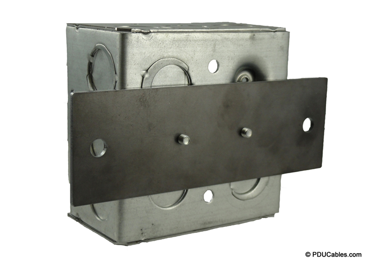 Mounting plate attached to a 1900 style box