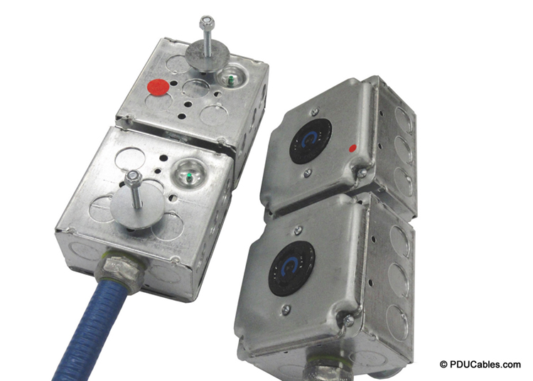 Uni-strut mounting bolt on multi-circuit 1900 style box