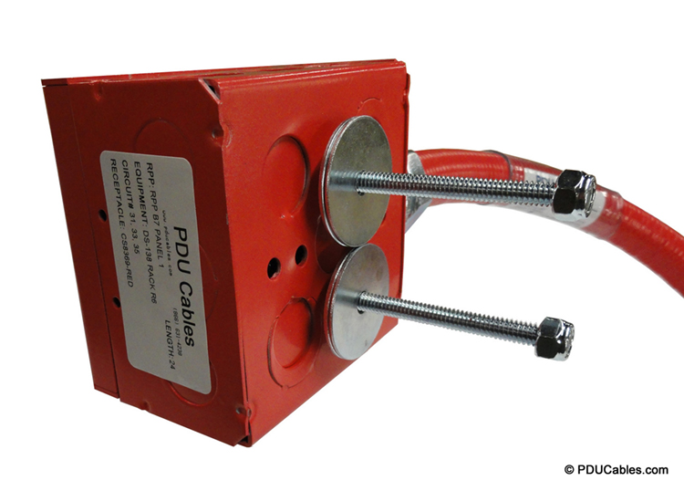 Dual uni-strut mounting bolt on red 1900 style box