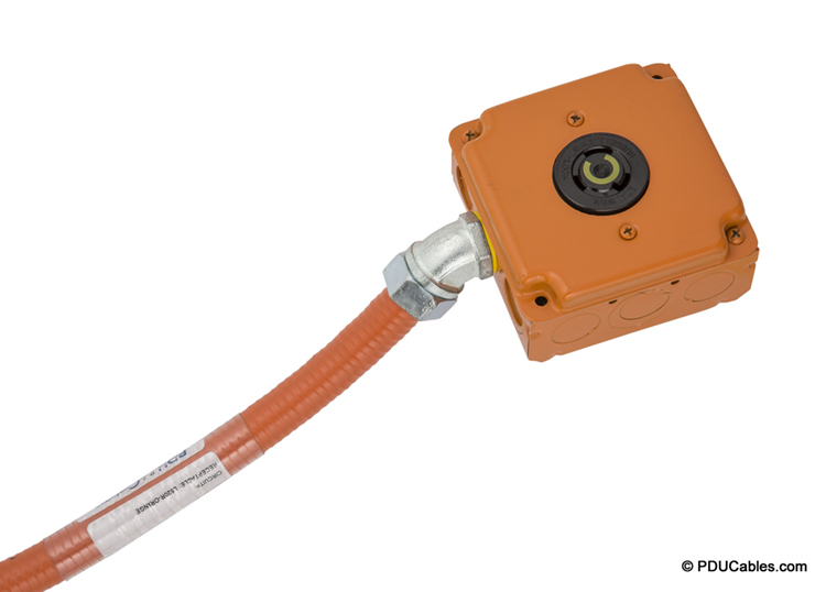 Color matched orange 1900 box, faceplate and conduit