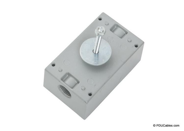 Uni-strut mounting bolt on a weatherproof box