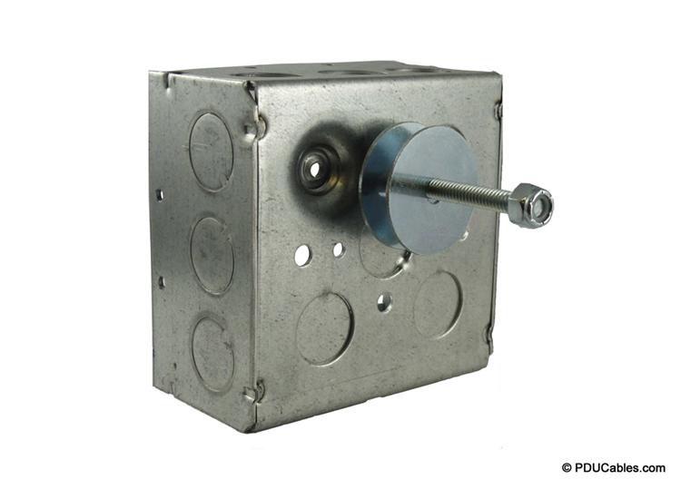 Uni-strut mounting bolt on a 1900 style box