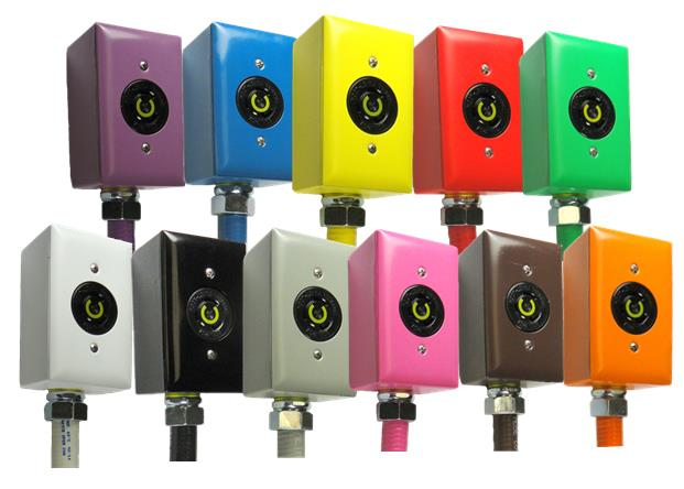 Eleven standard colors of boxes and faceplates